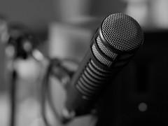 Studio Microphone (smaedli) Tags: blackandwhite bw chicago illinois unitedstates objects panasonic microphone olympusm45mmf18 panasoniclumixgh3 panasonicgh3