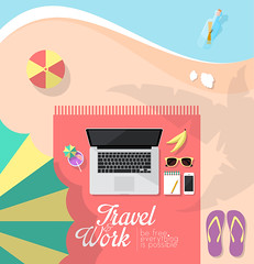beach_workspace (Victor Tondee) Tags: ocean above travel sea summer vacation holiday tree beach smart fruit illustration umbrella work computer notebook freedom glasses design coast office sand education technology message phone flat display drink laptop space telephone internet free lifestyle icon banana palm minimal business cocktail smartphone flipflops workspace copyspace simple vector freelance notepad freelancer