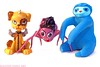 Homunculi, Spiders, Sloths (Cerulean Fish) Tags: dog monster daddy toy toys spider high long legs memphis figurines figure sloth needles figurine figures mattel voodoo homunculus watzit mhpets