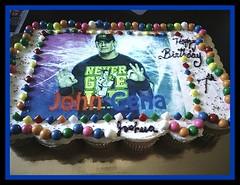 John Cera WWE cake by Sylvia, Northumberland, PA, www.birthdaycakes4free.com