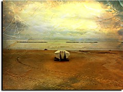 Meteorologically, this was my vacation at the beach! (Uscè (OFF,OFF!!!!!)) Tags: sea summer sky seascape storm texture nature colors yellow skyline clouds landscape perspective arrow lightning temporal iphone eugenio coppari uscè