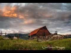 the iconic barn at Steamboat Springs Took this a couple days ago in the last light of the day. (JoshTrefethen.com) Tags: light last barn this couple day days springs ago steamboat took iconic
