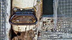 Screen window handle (Berkehaus) Tags: old detail window handle rust paint screen worn chip weathered surety