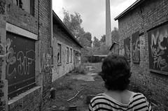 ... (elisachris) Tags: street urban blackandwhite bw berlin abandoned ruins ruine ricohgr verlassen pankow schwarzweis pankowheinersdorf sailorsdontcry rangierbahnhofpankow lockschuppenpankow
