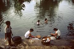 Washing on the river (Zalacain) Tags: people water river asia vietnam washing