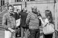 DSC_1468-1-2 Let's Stay Together Campaign, Leeds, uk. (Lawrence Holmes.) Tags: street uk scotland political leeds streetphotography bbc referendum devolution radioaire filmcrew letsstaytogether johnmiddleton salmond dansnow candidandstreet