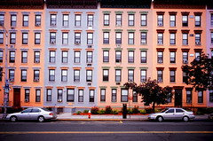 Hoboken Painted Buildings  Washington Street (mgarbowski) Tags: new film buildings photo newjersey fuji painted cities contax velvia jersey g2 100 hoboken 21mm contaxg2 fujivelvia100 contax21mm