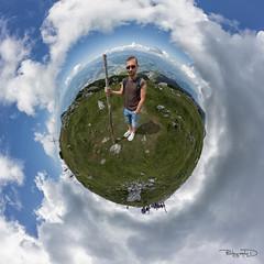 Petzen Wanderer (photographe_d) Tags: alps alm klagenfurt kugelpanorama littleplanet austriaeurope danielklblinger