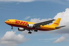 D-AEAS Airbus A300-622RF DHL (R.K.C. Photography) Tags: uk aircraft airbus lhr airliners freighter dhl a300 egll londonheathrowairport a300622rf canoneos1100d daeas