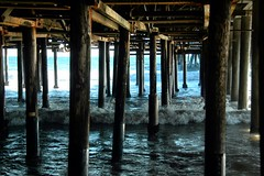 Beneath the Pier (EmperorNorton47) Tags: california summer digital pier photo afternoon santamonica underneath santamonicapier pylons
