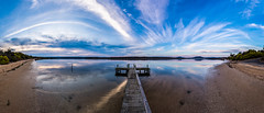River reflections (Aaron.J.r.S) Tags: sunset sky panorama color reflection water swansea sunrise canon reflections river sand tasmania tasmanian eastcoasttasmania ef1740mmf4lusm photoshopcs6 canon5dmark3