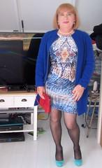 Blue Coat (Trixy Deans) Tags: hot cute sexy tv highheels dress cd crossdressing tgirl tranny transvestite heels trans transgendered crossdresser crossdress sexylegs transsexual classy sexyblonde tgirls xdresser transvesite sexyheels