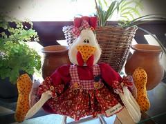 Galinha sentada (Sonhos de Tecido) Tags: galinha artesanato patchwork decoração cozinha