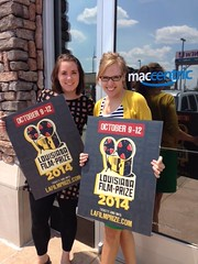 They are out of Louisiana Film Prize yard signs at Rhino Coffee, but still have them at Maccentric! While we replenish our stock at our favorite coffee place in town, go visit these lovely ladies and pick up your Film Prize sign and REPRESENT!