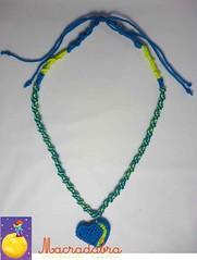 Collar con corazn alunado #macrame (Macradabra) Tags: hearts regalos collares corazones regalitos hechoamano macram macradabra
