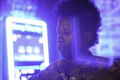 self expressionist moment in time (hafeez raji) Tags: nightphotography bar night 50mm nikon scene africanamerican nightlife needles piercings afterhours afropunk 50mmphotography