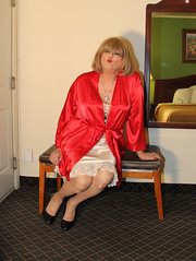 new98528-IMG_2225t (Misscherieamor) Tags: tv sitting feminine cd motel lingerie tgirl transgender mature sissy tranny transvestite slip crossdress ts gurl tg travestis travesti travestie m2f xdresser tgurl satinrobe