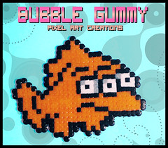 Guiñitos (Bubble Gummy pixel art) Tags: fish animal beads geek cartoon pixel pixelart series animales thesimpsons dibujos serie hama perler 8bits hamabeads lossimpson perlerbeads guiñitos beadsprite bubblegummy bubblegummypixelart
