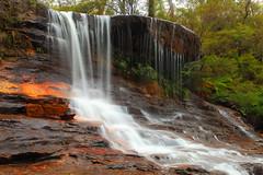 Weeping Rock, Wentworth Falls (Darren Schiller) Tags: nature landscape waterfall rocks australia bluemountains newsouthwales