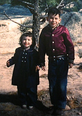 All the Time In The World... (snapscot) Tags: california family winter mountains film stevie hiking sister brother steve slide siblings 1950s margie slides stevecardwell margiecardwell 1950skids gscardwell