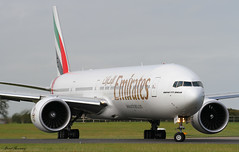 Emirates 777-300(ER) A6-EGU (birrlad) Tags: dublin airplane airport 10 taxi aircraft aviation airplanes airline airways airlines departure takeoff runway dub airliner departing taxiway