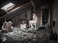 Dotek / Touch (radeklat) Tags: nude hands dirty attic desaturated disturbing