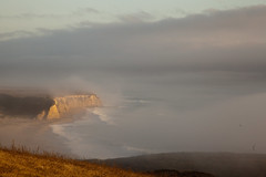 Scott Beach (Erin Claassen Photography) Tags: ocean ranch sunset sky beach water fog clouds sand waves pacific cliffs santacruzcounty swantonpacificranch