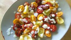 Old Fashioned Tomato Salad (ljstubbs) Tags: food recipe pepper milk salad egg salt sugar oil vinegar flour cherrytomatoes
