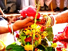 Bengali wedding, India (sunlitnights) Tags: flowers wedding india groom bride marriage shaadi kolkata bengal bengali behela