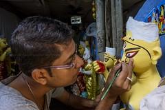 The Artist_Durga puja_Kolkata 2014 (Sandipa Malakar (bristii)) Tags: shop canon goddess idol seller available durga durgapuja canon1740l northkolkata canon60d sovabazar culturereligion kumortuli clayidol kolkatabengalwestbengal