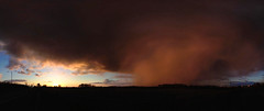 Storm a-comin' (Chris Beee) Tags: winter sunset storm squall snowstorm lancashire rainclouds tarleton