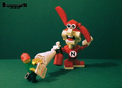 The Noid (buggyirk) Tags: man fire lego retro dominos pizza 80s delivery series 12 minifig noid extinguisher minifigure moc afol minifigures nestalgic nestalgia minfigs