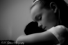 Comfort (azphotomom37) Tags: family arizona portrait blackandwhite love girl canon hug daughter 85mm stuffedanimal chandler kgibsonphotography