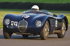 Jaguar C-type (year 1952) PUG 676 - Goodwood Revival 2014 (PSParrot) Tags: year pug jaguar goodwood 1952 revival 2014 ctype 676 pug676 2014goodwoodrevival