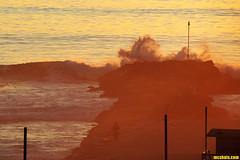 EveningSplash (mcshots) Tags: ocean california winter sunset sea usa beach nature water evening coast surf waves jetty stock socal breakers splash mcshots swells surge lifeguardtower combers losangelescounty