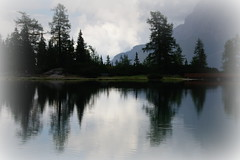 Reflection time (Seebensee, Austria) (armxesde) Tags: trees cloud mist lake storm mountains alps reflection water austria see tirol österreich wasser pentax silhouettes berge alpen bäume spiegelung ricoh k3 zugspitze seebensee