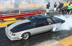 Turbo Mustang Outlaw at Shady Side (Thumpr455) Tags: auto ford sports car june silver nikon automobile action turbo autoracing burnout mustang dragracing outlaw d800 2015 shelbync worldcars afnikkor3570mmf28d shadysidedragway outlawradialshootout