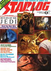 Starlog #74 (1983) - Return of the Jedi (Tom Simpson) Tags: starlog starwars returnofthejedi admiralackbar behindthescenes film vintage movie 1983 1980s wicket ewok jabbathehutt