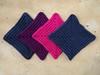 Four large textured crochet squares (crochetbug13) Tags: crochet crocheted crocheting crochetsquares crochetrectangles crochettriangles texturedcrochet crochetblanket crochetafghan
