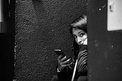 Bored people.. (pedrodias12) Tags: girlportrait lisboa portugal look portrait people blackandwhite white black boredpeople bored expression face girl canonpicture canonphotography picture photography fotografia 18135mm canon1300d canon