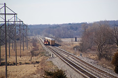 SD60-led counterpart trains meet at Lewiston (AndyWS formerly_WisconsinSkies) Tags: train railroad railway railfan canadianpacificrailway canadianpacific cprail cp emd sd60 emdsd60 locomotive