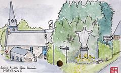 Le Tour de France virtuel - 53 - Mayenne (chando*) Tags: croquis sketch aquarelle watercolor france