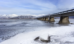 Brigde to the Mountains (Sònia CM) Tags: camera canon6d sky snow bridge clouds cloudy iceland water waterscape ice iceberg mountains montañas canon1740 canon1740f4lusmgroup