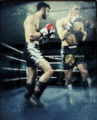 Shadow Boxing (FotoFling Scotland) Tags: gavinmarlotti fightnight male thai boxing overlay doubleexposure