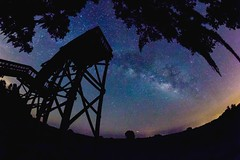 Observation deck view of the Milky Way (tshabazzphotography) Tags: fisheyephotograph fisheye rokinon stars astrology nebula milkyway explore universe infinite canonoffical canont5i longexposurephotography silhouette nature outdoors