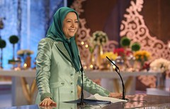 Maryam Rajavi's speech on Nowruz in the PMOI gathering-8