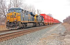 Southbound CSX Stack Train (craigsanders429) Tags: csx csxtrains csxinmichigan tracks railroadtracks stacktrains csxstacktrains michigan michiganrailroads monroemichigan