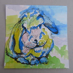 Lapin 2 (mmarple62) Tags: lapin aquarelle dessin watercolor pencil pinceaux drawing crayon couleurs