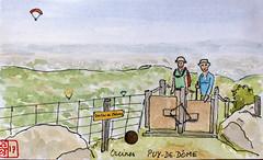 Le Tour de France virtuel - 63 - Puy-de-Dôme (chando*) Tags: aquarelle watercolor croquis sketch france
