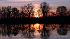 Sunset in a mirror (Nick Air Aviation Photography) Tags: lake reflection sunset dusk trees warmcolors silhouettes reservoir